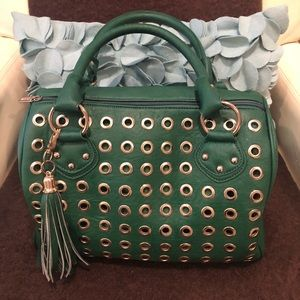 Boutique Green Purse with Tassel